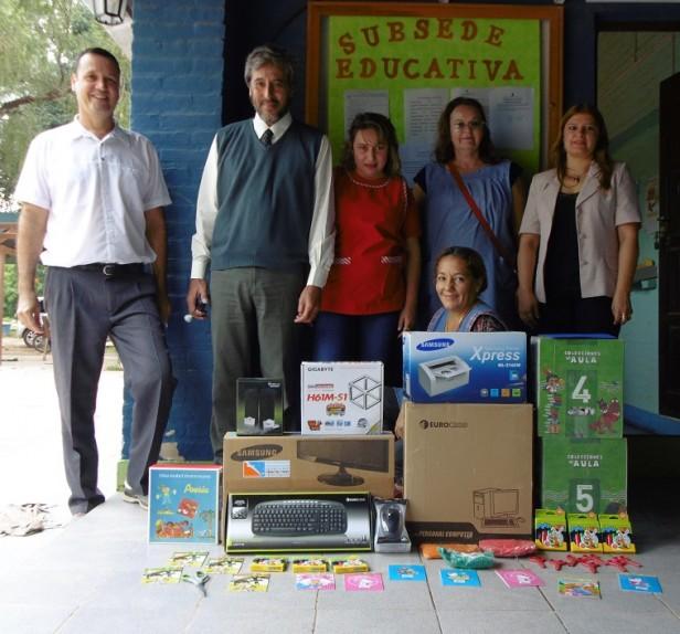 La Subsede Fuerte Esperanza hizo entrega de las donaciones de Banco Nación