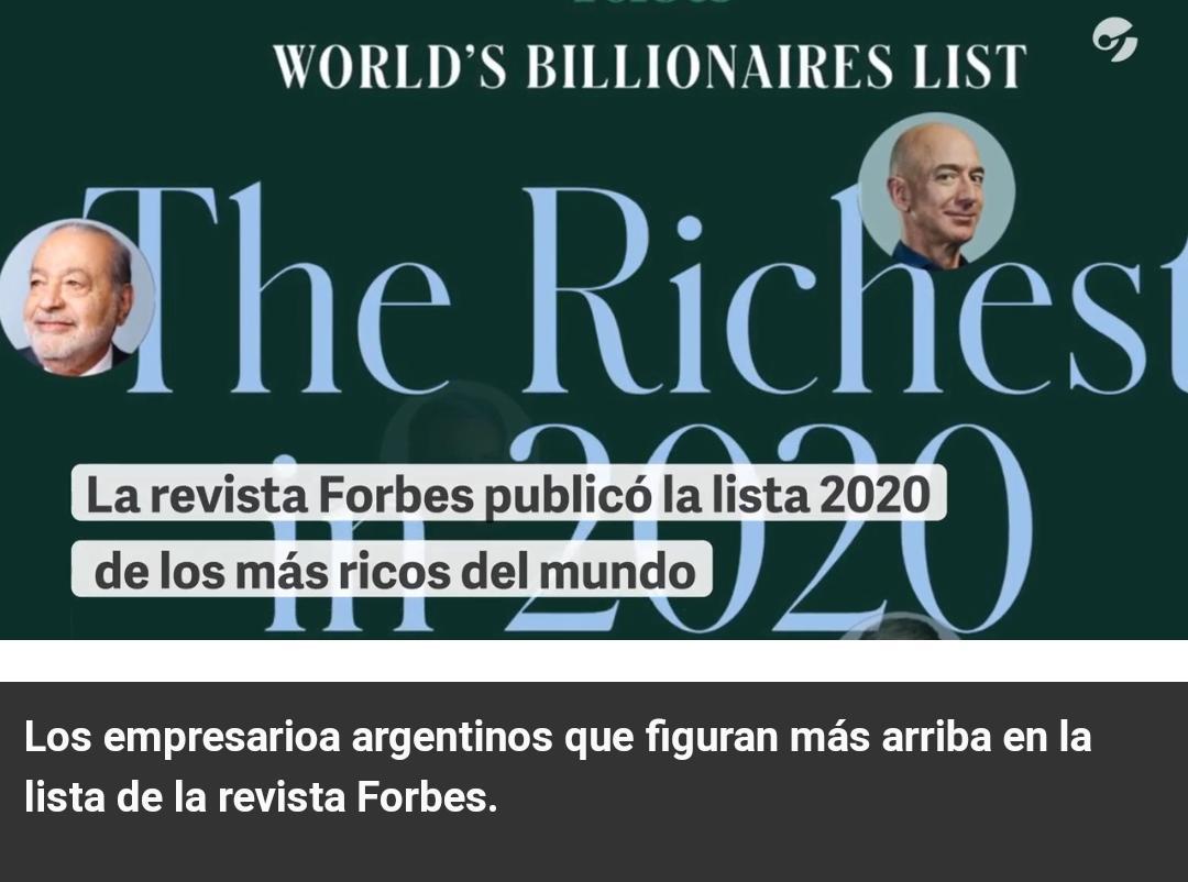 Quiénes son los cinco argentinos más ricos del mundo, según el ranking Forbes