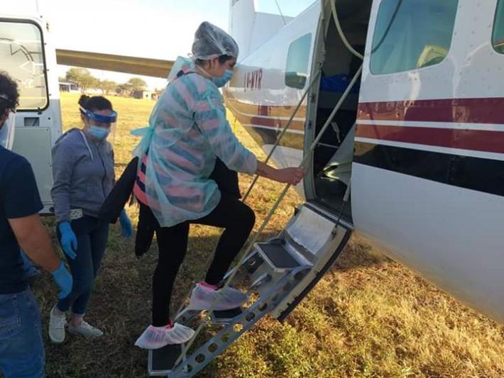 Un bebé de 16 días fue trasladado en un avión sanitario desde Castelli hacia Resistencia