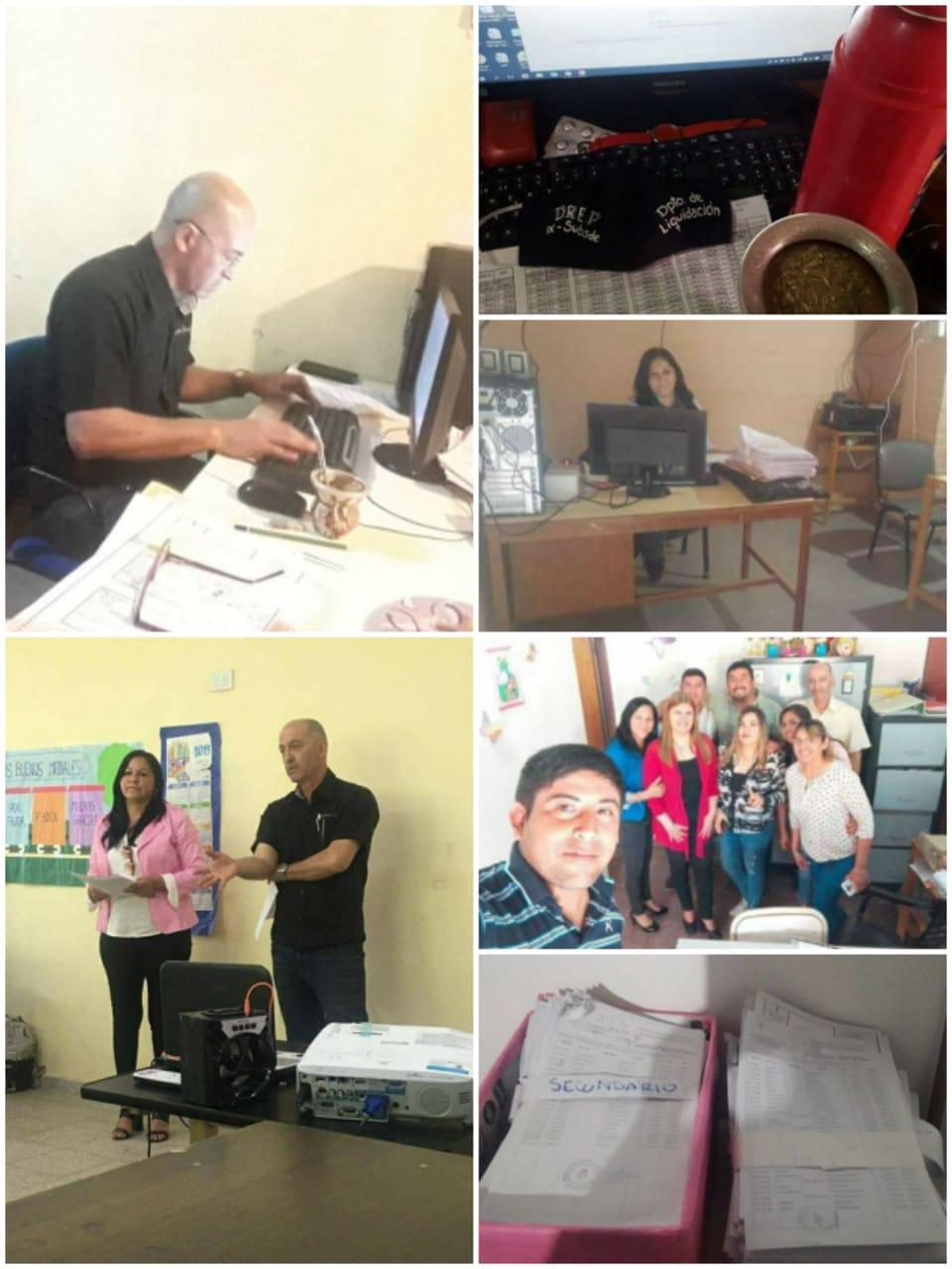 El equipo de la Subsede Educativa Fuerte Esperanza con guardia mínima liquidó sueldos, tarea indispensable en tiempos de cuarentena