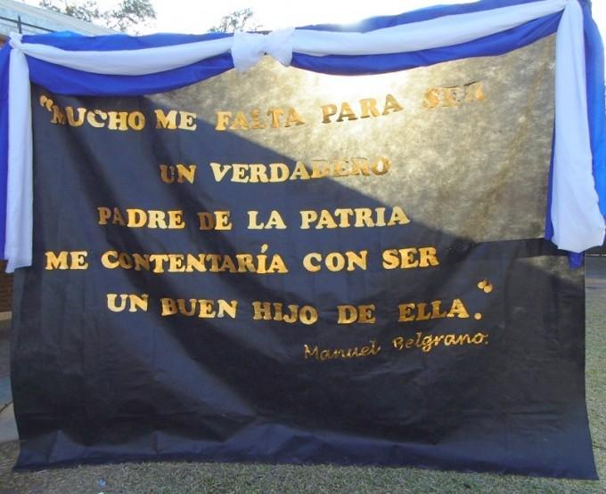 Acto 20 de junio en Fuerte Esperanza - 2016