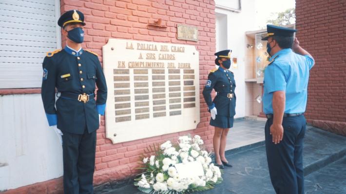Sentido homenaje de la Policía de Chaco al subcomisario que murió por COVID-19