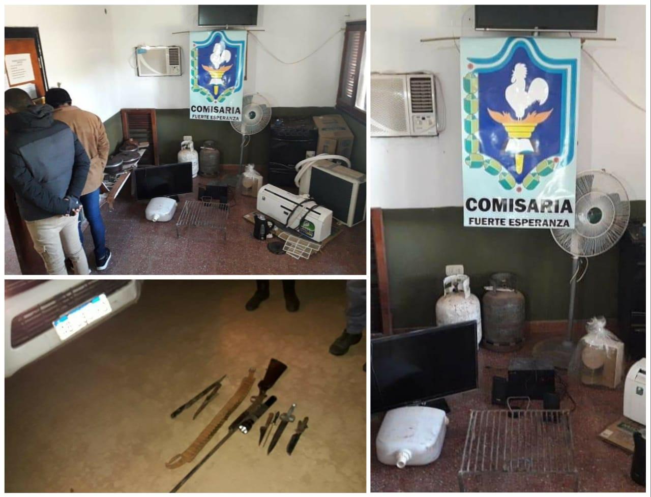 FUERTE ESPERANZA: POLICÍA ATRAPÓ RATONES Y RECUPERÓ ELEMENTOS ROBADOS