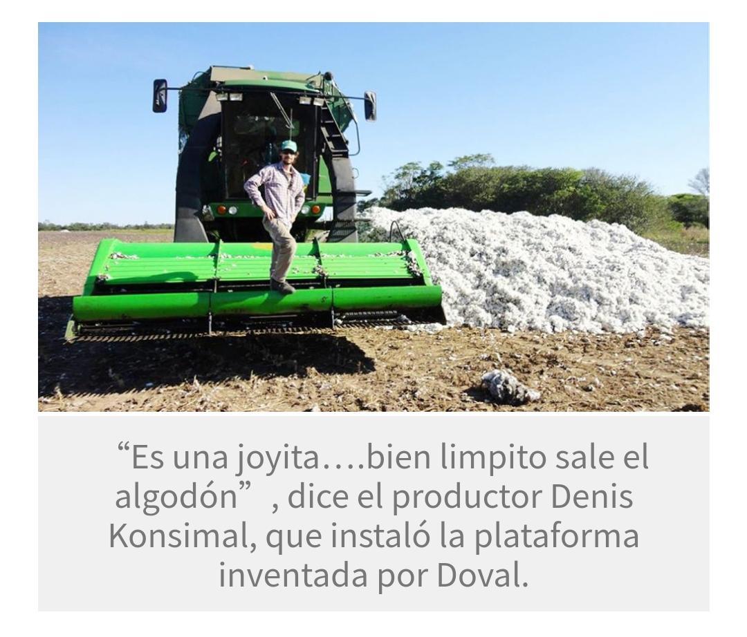 Chaco tiene patente del sistema de prelimpieza de algodón