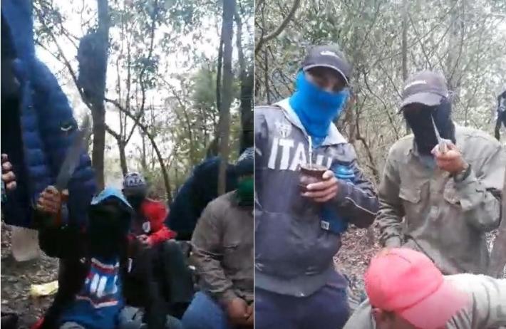 Investigan a once personas tras la difusión de un video donde amenazan con cuchillos a un periodista