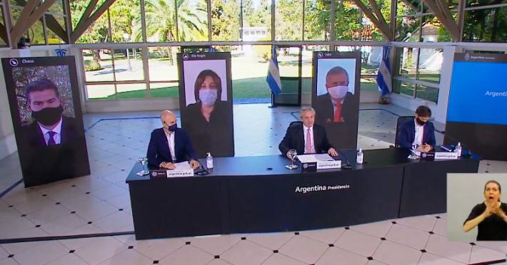 Junto a Gobernadores, Fernández confirmó flexibilizaciones de la Cuarentena