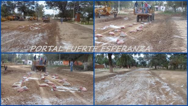 Avanza la Obra de Pavimentación en Fuerte Esperanza