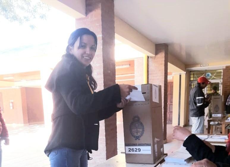 Fuerte Esperanza: Eugenia Mercado ya emitió su Voto   PASO 2019