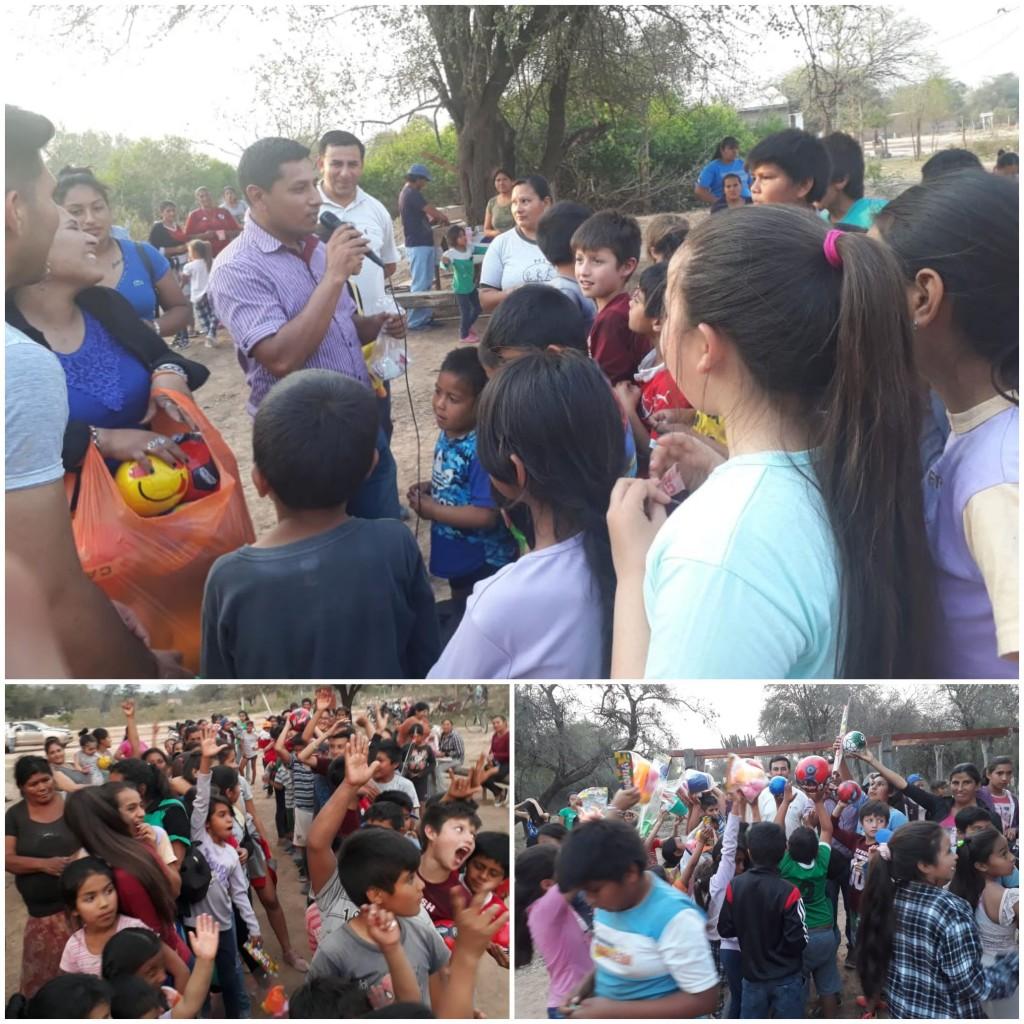 Festejos por el Día del Niño Organizado por la Juventud Radical de Fuerte Esperanza y Comandancia Frías