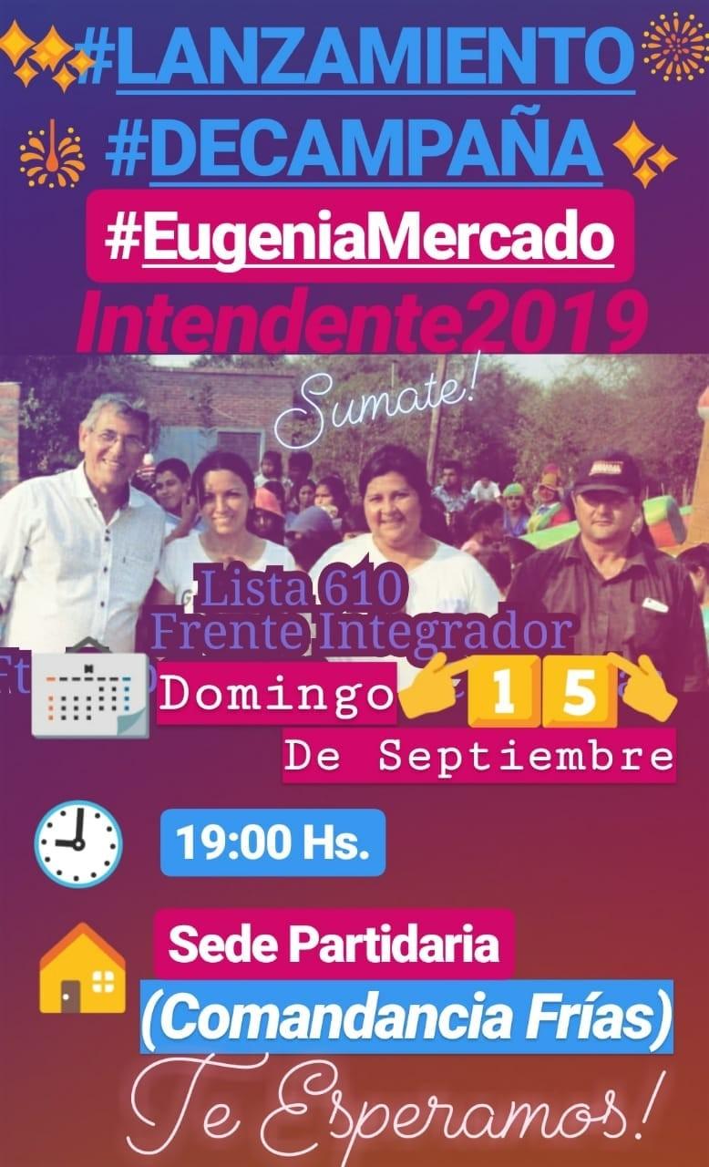 Eugenia Mercado: Lanzamiento de campaña | Elecciones 2019.