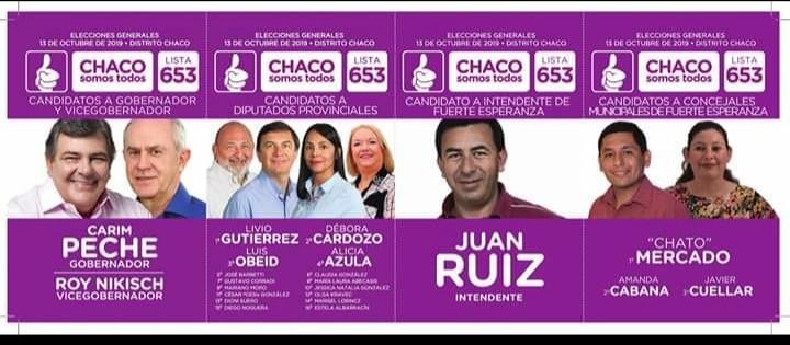 Fuerte Esperanza: Chaco Somos Todo presentó su boleta.