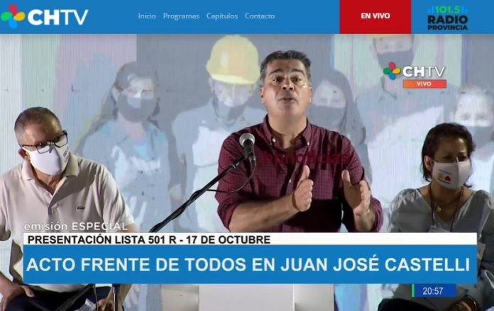 """""""Todos Chaco TV"""": los medios públicos sólo transmiten la campaña de Capitanich"""