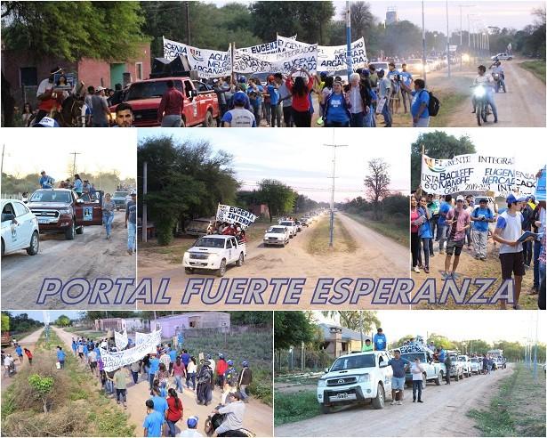 Fuerte Esperanza: El Frente Integrador colapsó las calles   Elecciones 2019-10-11