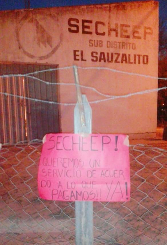El Sauzalito: Vecinos Reclaman por mejoras en el Suministro Eléctrico