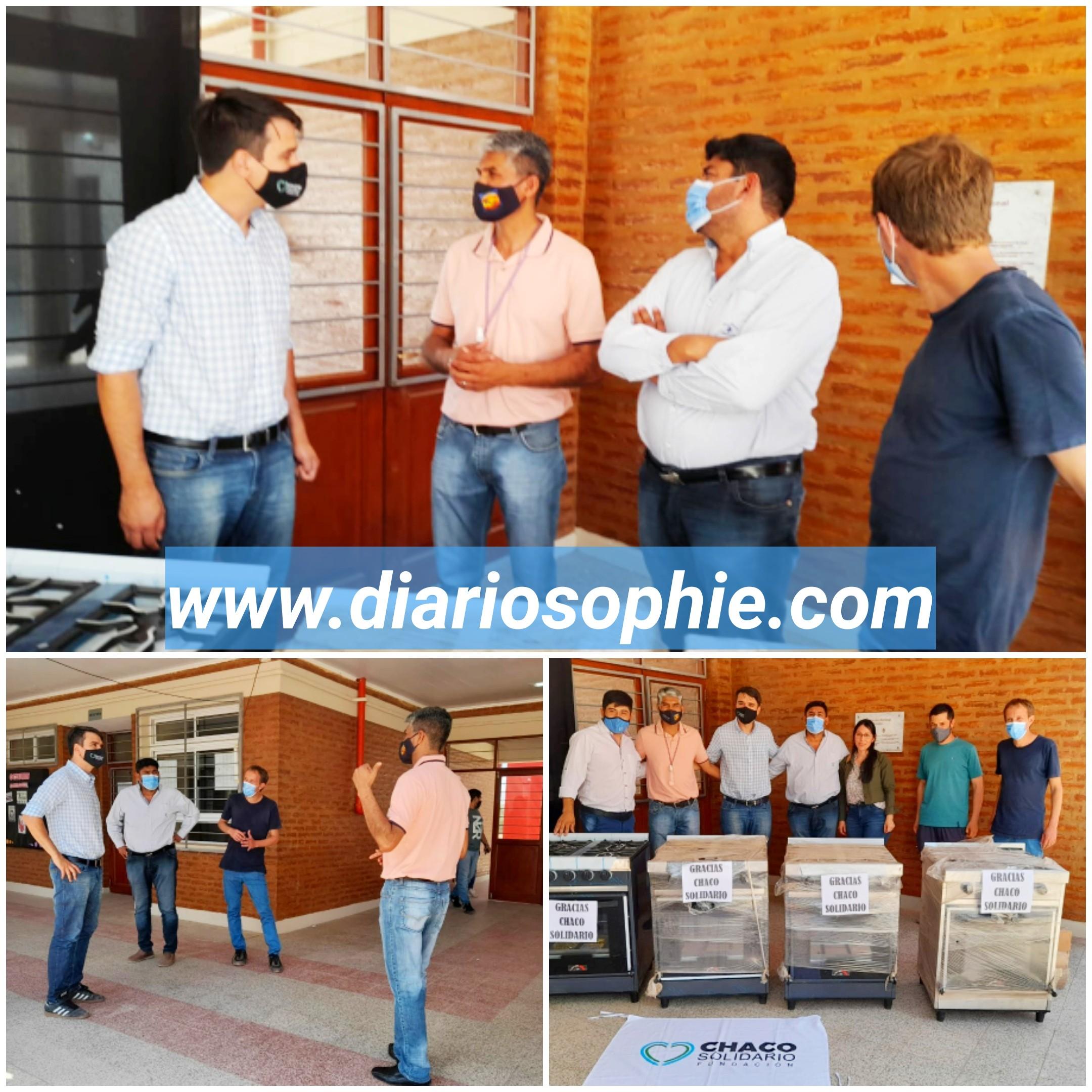 La ESFA N° 1 recibió Cocinas Industriales por parte de la Fundación Chaco Solidario.