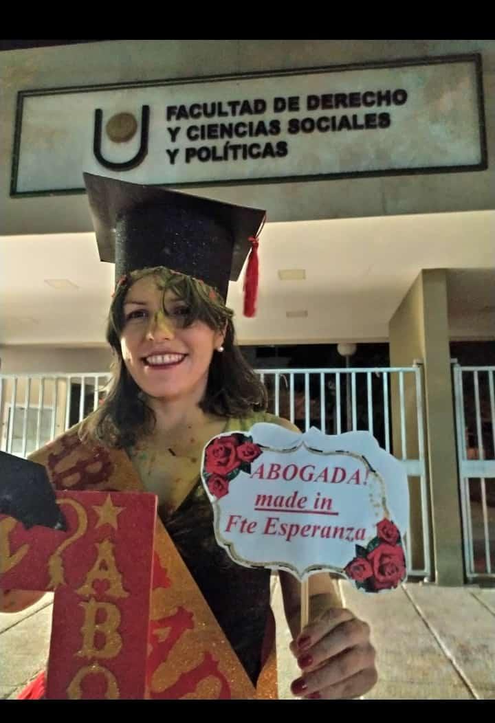 Fuerte Esperanza: Felicidades Flamante Abogada Maru Mercado
